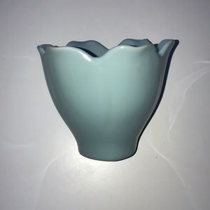 Robin's Egg Blue Tulip Jewelry Cup